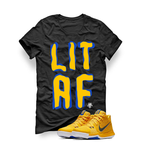 Nike Kyrie 3 Mac and Cheese Kids Black T (Lit AF)