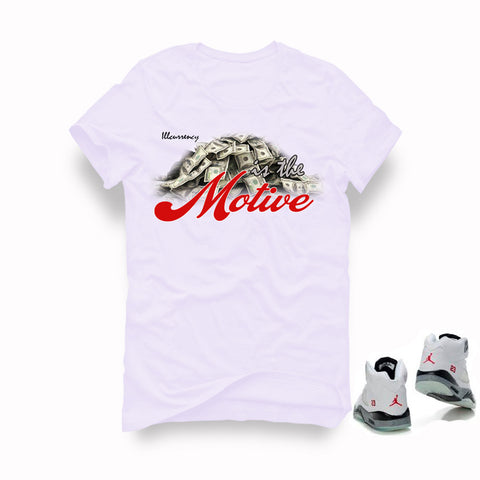 Air Jordan 5 White Cement White T (Money is the motive)