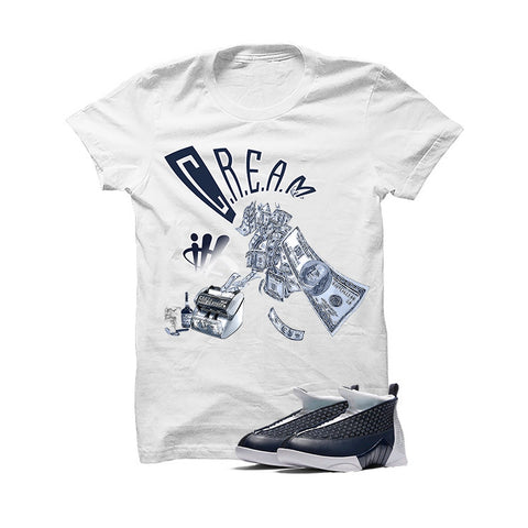 Jordan 15 Obsidian White T Shirt (Cream)