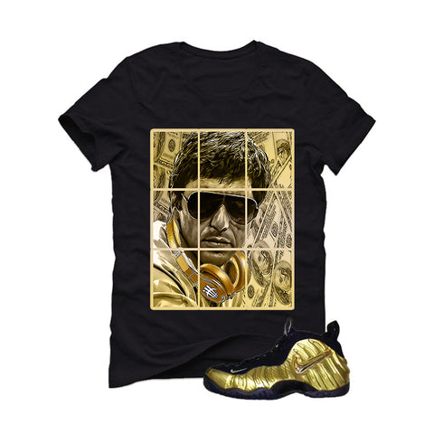 Nike Air Foamposite Pro Metallic Gold Black T (Pacino)