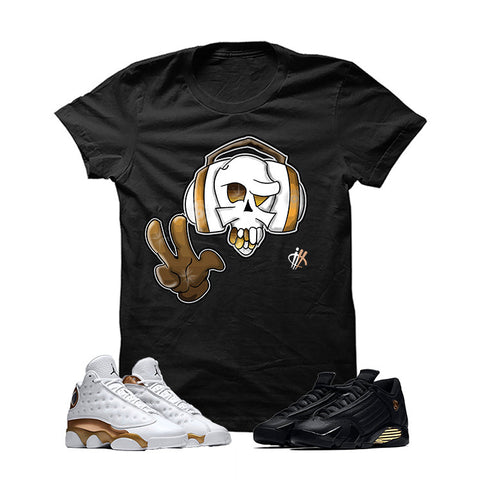 Jordan 13/14 Defining Moments Pack Black T Shirt (Peacetunes)