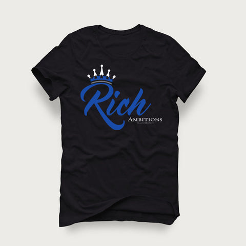 Jordan 4 Game Royal Black T Shirt (Rich Ambitions)
