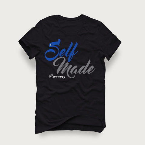 Jordan 4 Game Royal Black T Shirt (Self Made)