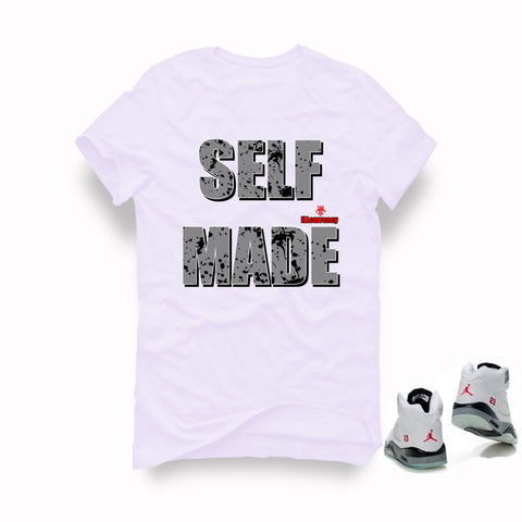 Air Jordan 5 White Cement White T (Self Made)