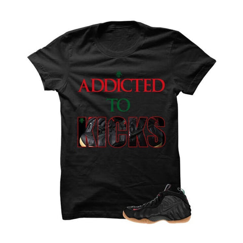 University Red Foams  Black T Shirt (Drip Lips)