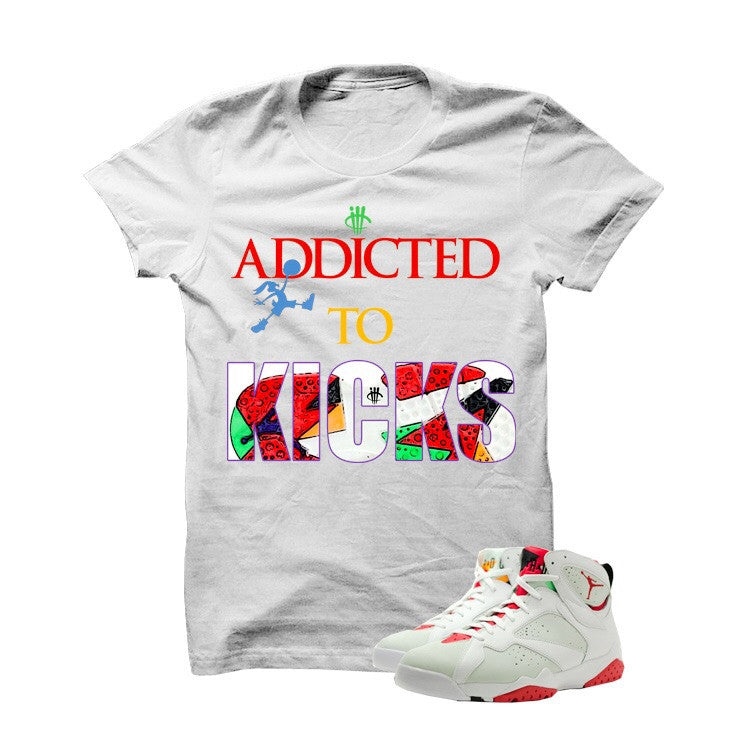 Addicted To Kicks Hare 7s White T Shirt - illCurrency Matching T-shirts For Sneakers, Jordan's and foamposites