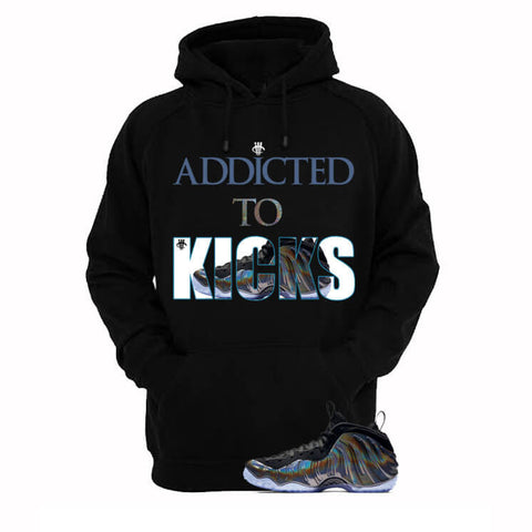 Addicted To Kicks Gone Fishing Foams Black T Shirt