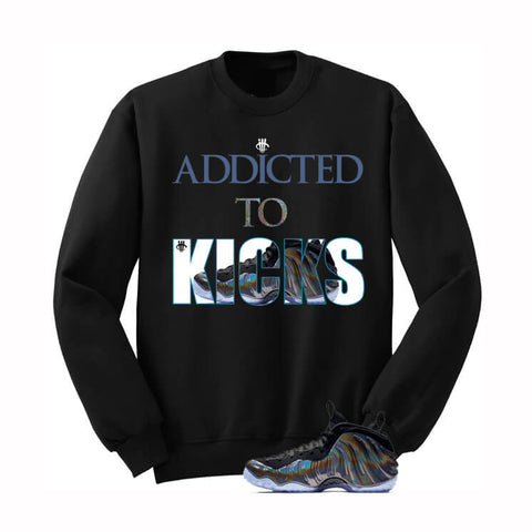 University Blue Foams Black Sweatershirt (We Trust)