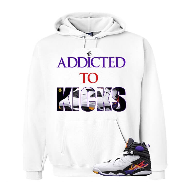 Addicted To Kicks Three Times A Charm White Hoody - illCurrency Matching T-shirts For Sneakers, Jordan's and foamposites