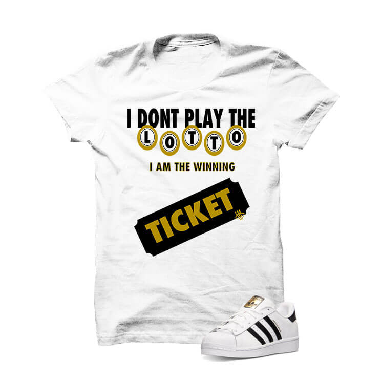 Shirt - Adidas Originals Superstar White T Shirt (Lotto Ticket)