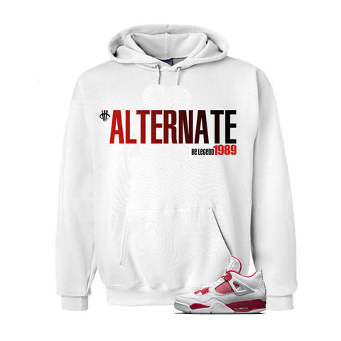 Hate Is Real Jordan 4 Alternate 89 White Sweatshirt