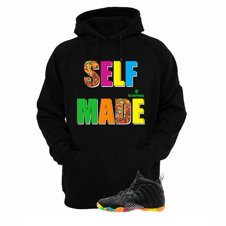 Fruity Pebble Foams Black Hoodie (Self Made) - illCurrency Matching T-shirts For Sneakers, Jordan's and foamposites
