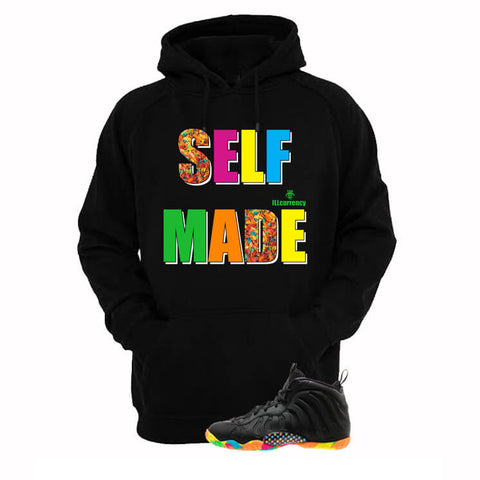 Hustle By Any Means Hologram Foams Black Hoody