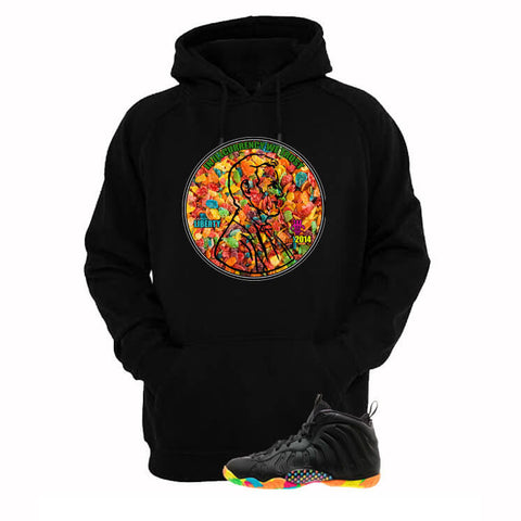 Fruity Pebble Foams Black Hoodie (Hate Is Real)