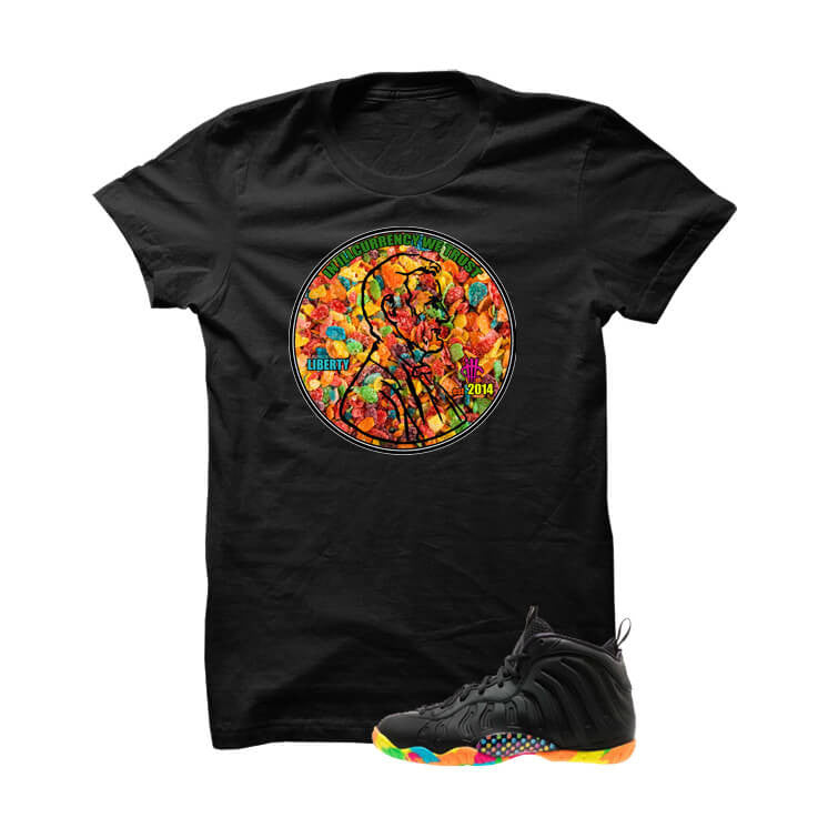 Fruity Pebble Foams Black T Shirt (We Trust) - illCurrency Matching T-shirts For Sneakers, Jordan's and foamposites