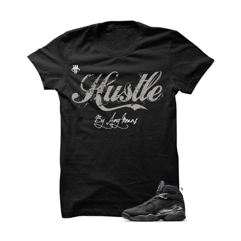 Hustle By Any Means Chrome 8s Black Sweatshirt