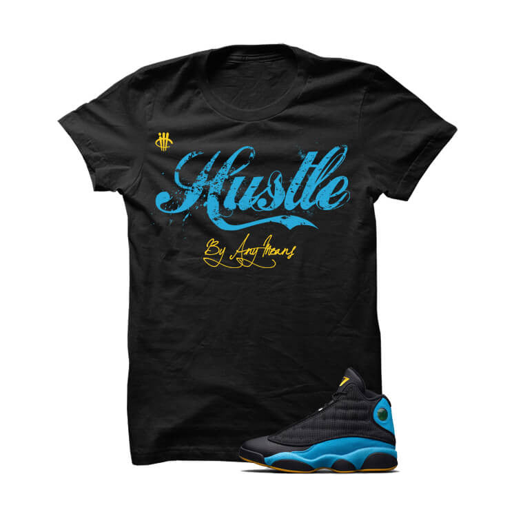 Hustle By Any Means CP3 Away Black T Shirt - illCurrency Matching T-shirts For Sneakers, Jordan's and foamposites