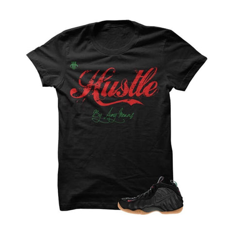 Jordan 12 Flu Game Black T Shirt (Hustle By Any Means)