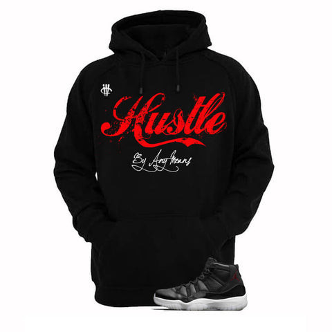 Money Is The Motive Jordan 72 10 Black Hoodie
