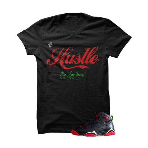 Hustle By Any Means Marvin The Martian 2 Black T Shirt - illCurrency Matching T-shirts For Sneakers, Jordan's and foamposites