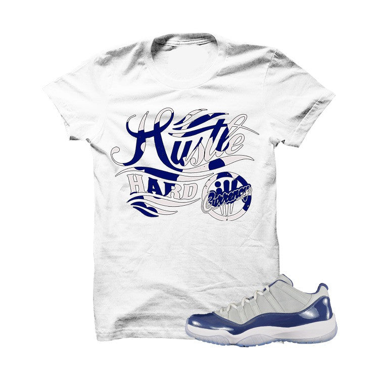Hustle Hard Low Georgetown 11s White T Shirt - illCurrency Matching T-shirts For Sneakers, Jordan's and foamposites
