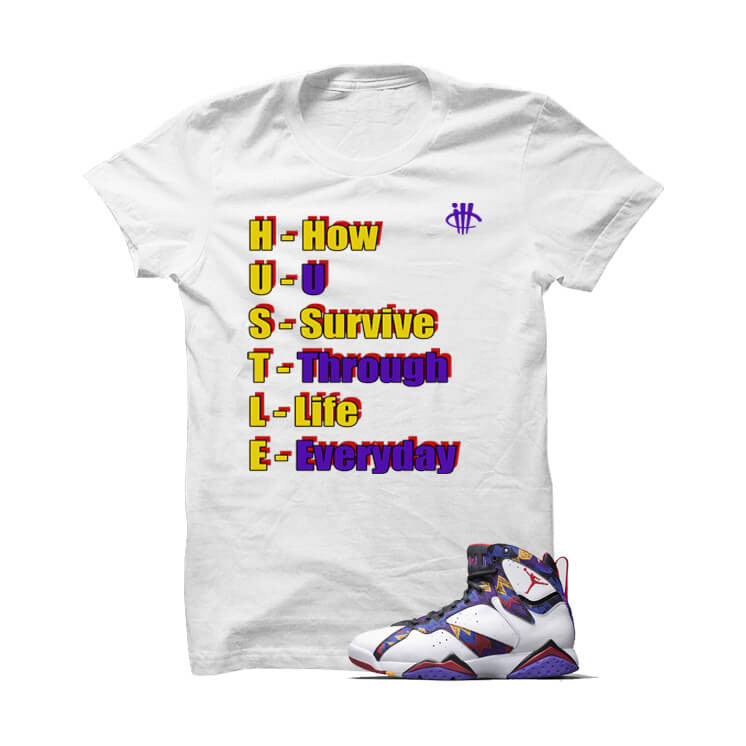 Hustlers Definition Nothin But Net 7s White T Shirt - illCurrency Matching T-shirts For Sneakers, Jordan's and foamposites