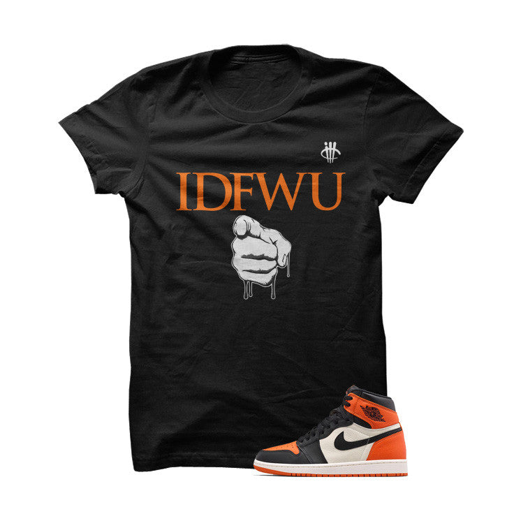 IDFWU Shattered Backboard 1s Black T Shirt - illCurrency Matching T-shirts For Sneakers, Jordan's and foamposites