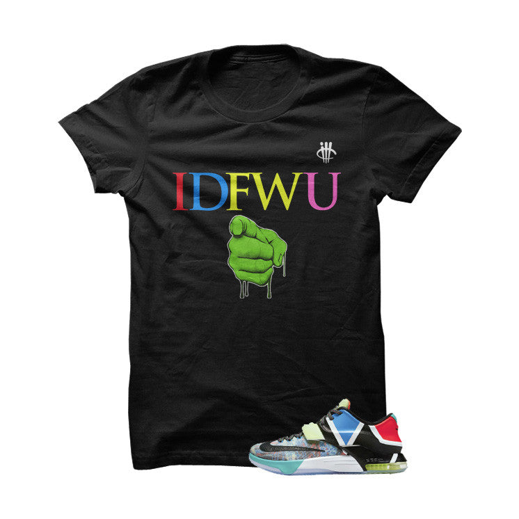 IDFWU What The KD7 Black T Shirt - illCurrency Matching T-shirts For Sneakers, Jordan's and foamposites