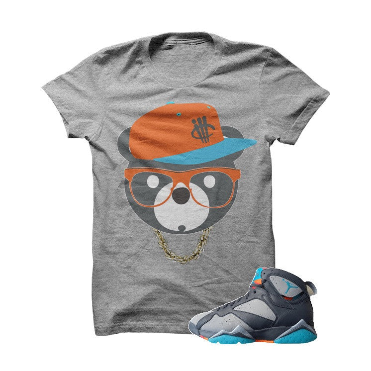 ill Bear Bobcat 7s Grey T Shirt - illCurrency Matching T-shirts For Sneakers, Jordan's and foamposites
