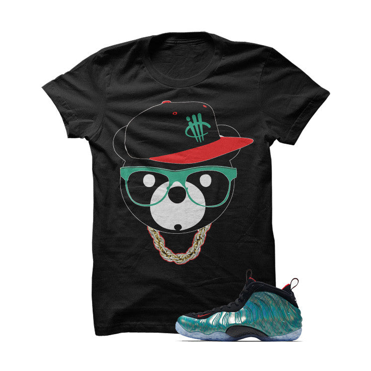 ill Bear GoneFishingFoams Black T Shirt - illCurrency Matching T-shirts For Sneakers, Jordan's and foamposites