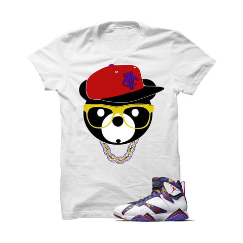 ill Bear Metallic Silver 5s White T Shirt