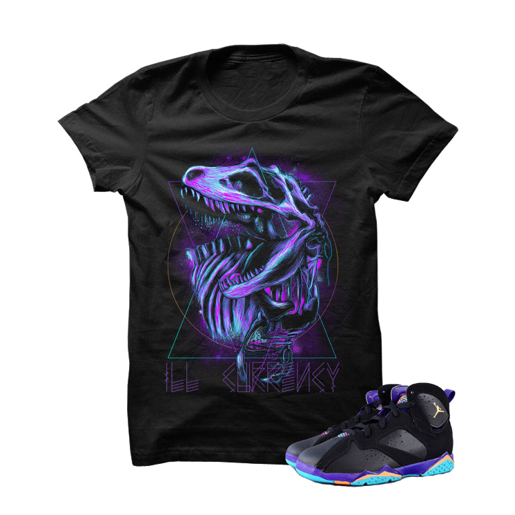 ill Dino Lola 7s Black T Shirt - illCurrency Matching T-shirts For Sneakers, Jordan's and foamposites