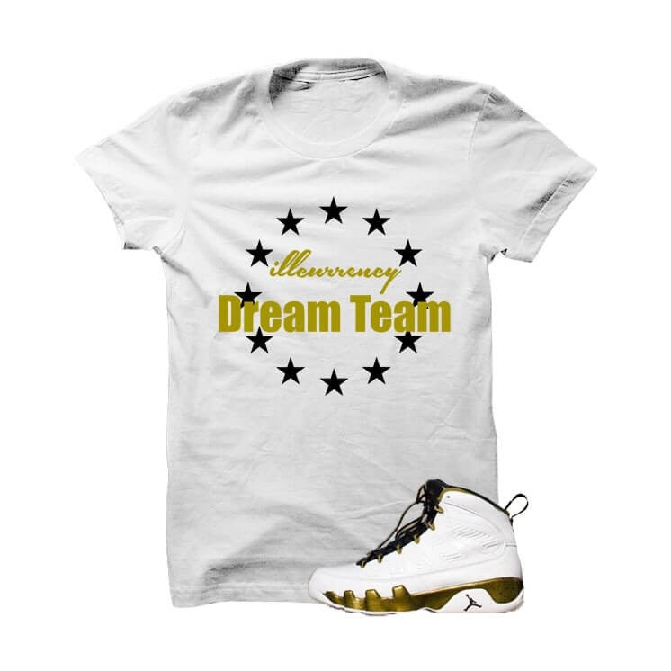 illcurrency Dream Team Militia Green White T Shirt - illCurrency Matching T-shirts For Sneakers, Jordan's and foamposites
