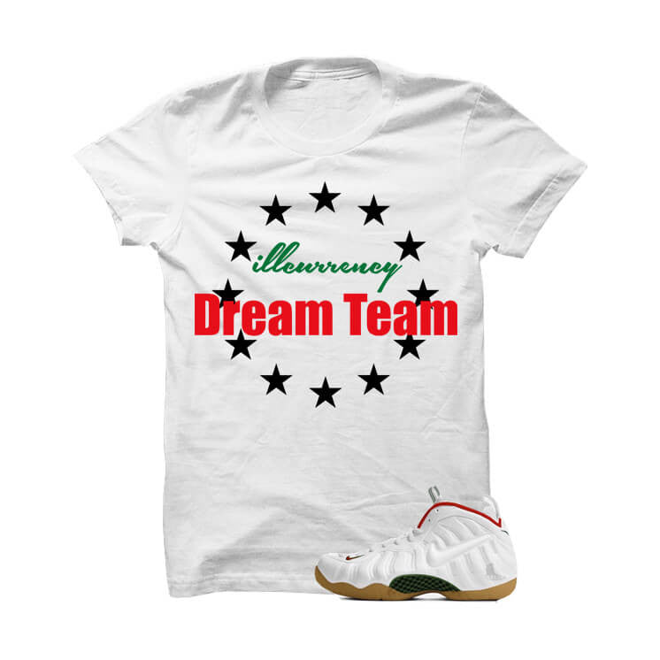 illcurrency Dreamteam White Gucci White T Shirt - illCurrency Matching T-shirts For Sneakers, Jordan's and foamposites