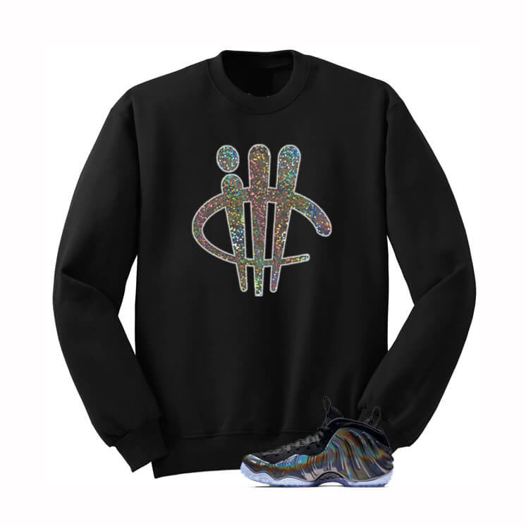illcurrency Logo Hologram Foams Black Sweatshirt - illCurrency Matching T-shirts For Sneakers, Jordan's and foamposites