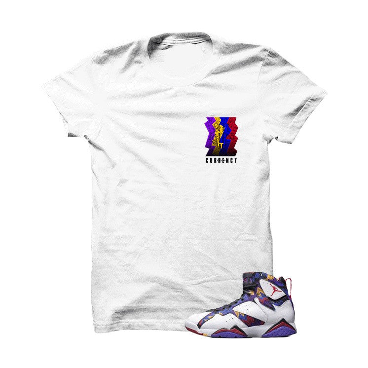illcurrency Nothin But Net 7s White T Shirt - illCurrency Matching T-shirts For Sneakers, Jordan's and foamposites