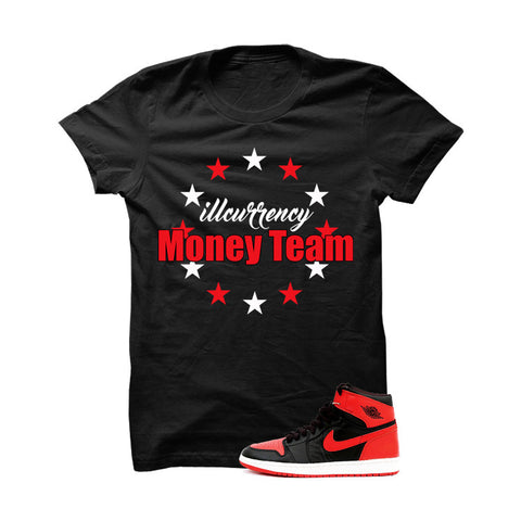 Jordan 1 High OG Banned Black T Shirt (Never Give Up)