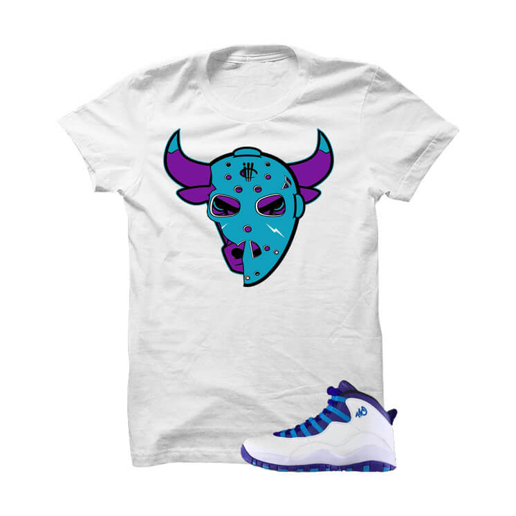 Shirt - Jordan 10 Charlotte White T Shirt (Jason Bully)