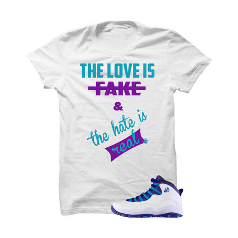 Jordan 10 Gs Vivid Pink White T Shirt (Lady Boss)