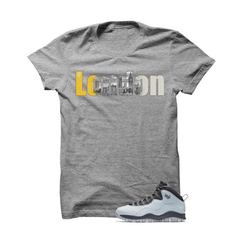 Jordan 10 London Grey T Shirt (Self Made)