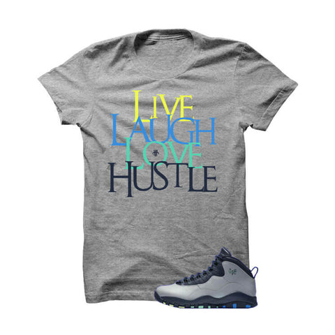 Jordan 10 Rio Grey T Shirt (Money Is The Motive)