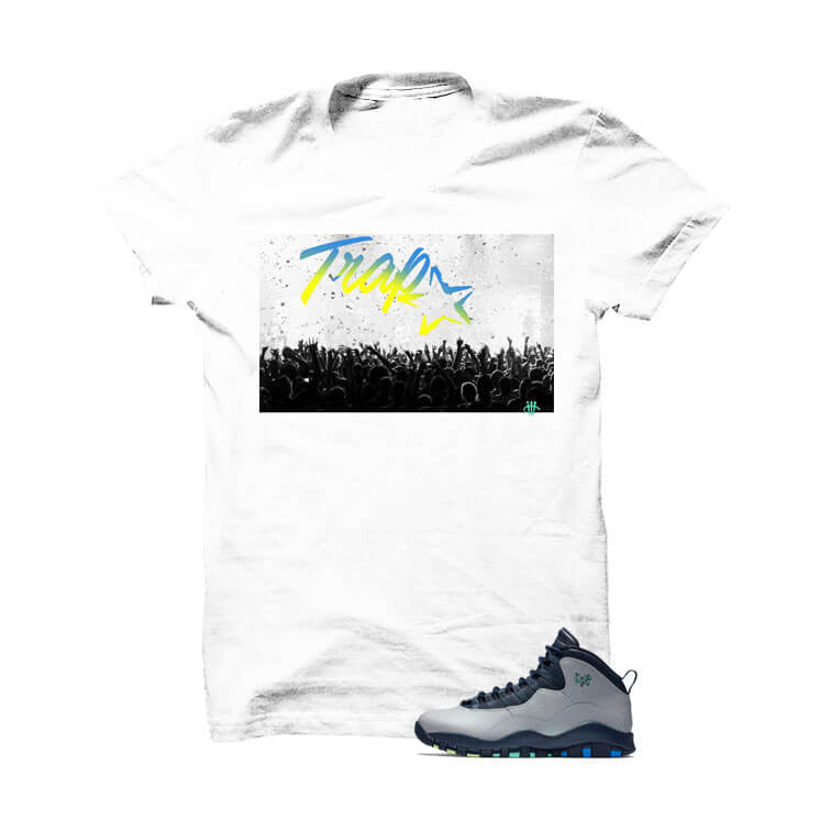 Jordan 10 Rio White T Shirt (Trap Star) - illCurrency Matching T-shirts For Sneakers and Sneaker Release Date News