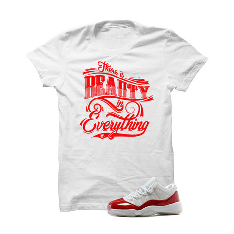 Jordan 11 Low Varsity Red White T Shirt (No Introduction)