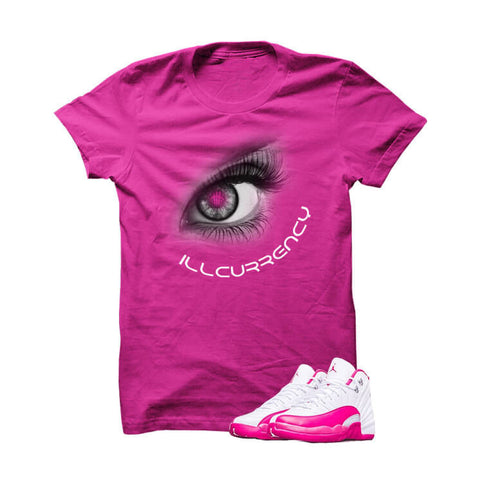Jordan 12 Dynamic Pink Hot Pink T Shirt (Love Is Fake)