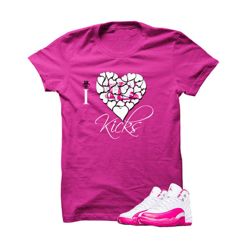 Jordan 12 Dynamic Pink White T Shirt (Expensive Taste)