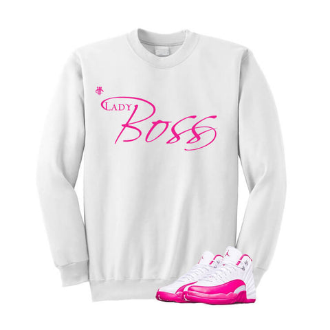 Jordan 12 Dynamic Pink Hot Pink T Shirt (Self Made)