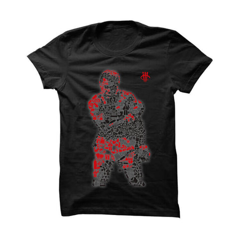 Jordan 12 Flu Game Black T Shirt (Zombie Homer)