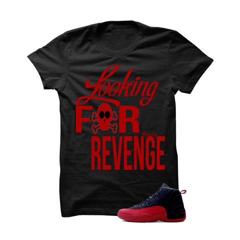 Jordan 12 Flu Game Black T Shirt (Revenge)