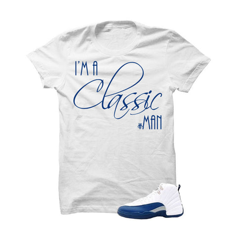 Jordan 12 French Blue White T Shirt (Classic Man)