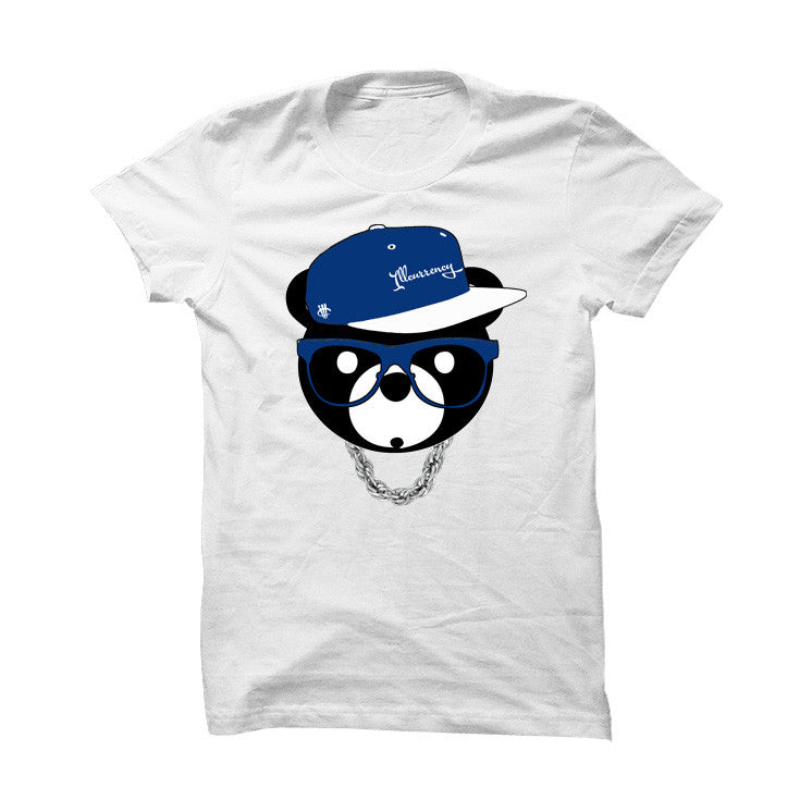 Jordan 12 French Blue White T Shirt (ill Bear) - illCurrency Matching T-shirts For Sneakers, Jordan's and foamposites